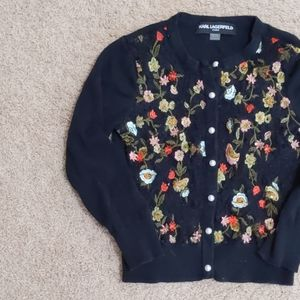 XS Karl Lagerfeld Paris button-up cardigan